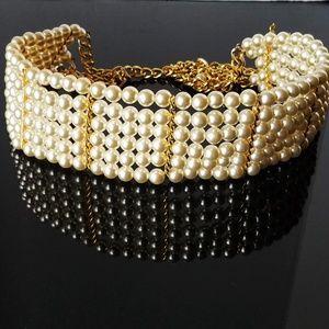 Accessories - Faux Pearl Elegant Belt